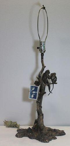 SILVER. Patrick Mavros Sold Silver Monkey Lamp.