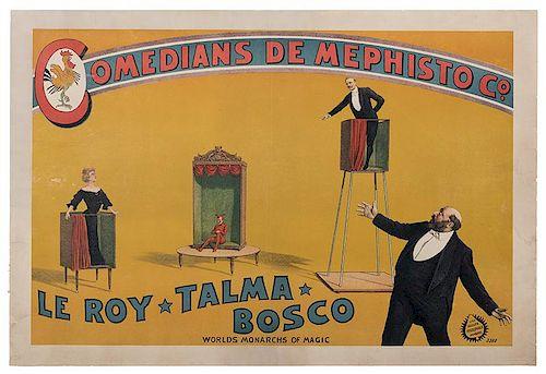 Comedians de Mephisto Co. LeRoy-Talma-Bosco.