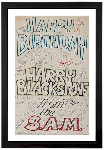 Harry Blackstone Jr Signed Giant Birthday Card By Potter Potter