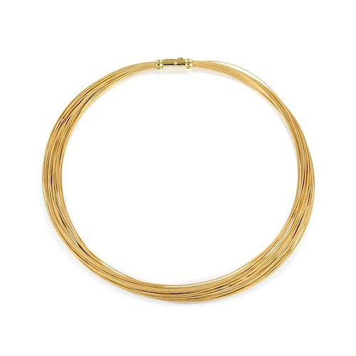 Tiffany & Co. Multi-Strand Gold Necklace