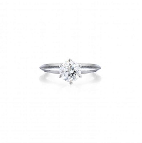 A 1.01-Carat F IF Diamond Solitaire Ring, with a GIA Report