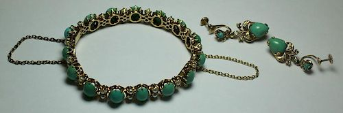 JEWELRY. 14kt Gold, and Turquoise Jewelry.