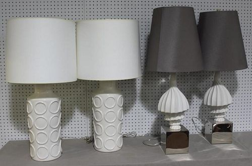 Lot of 2 Pairs of Jonathan Adler Table Lamps.