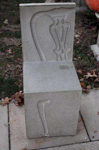 Vintage Designer Concrete Chair.