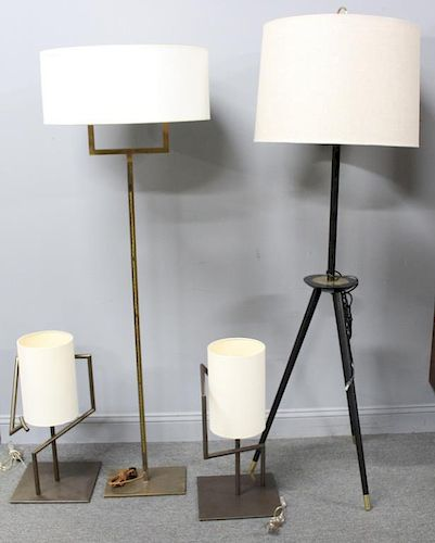 Lot of Four Contemporary Lamps To Inc.