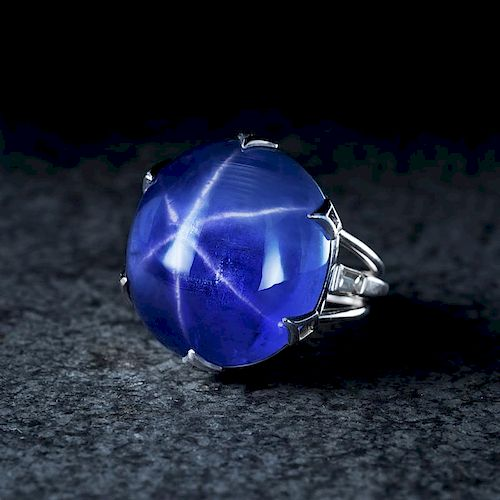 A 48.83-Carat Unheated Ceylon Star Sapphire Ring/Pin, with an AGL Report