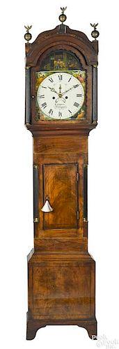 George IV mahogany tall case clock