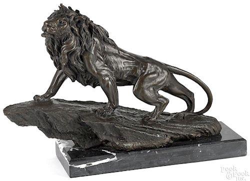 European Bronze Finery sculpture of a lion