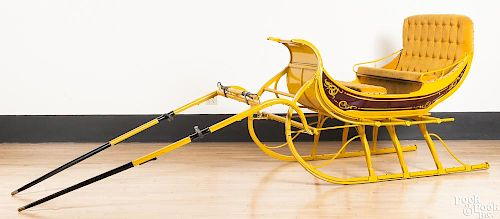 Antique sleigh, fully restored by A & D Buggy Shop