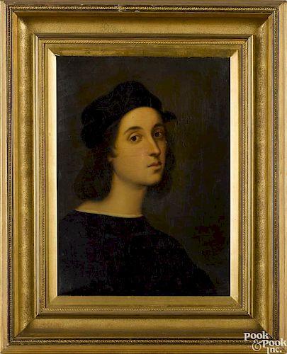 Albert Krafft (19th c.), oil on canvas portrait