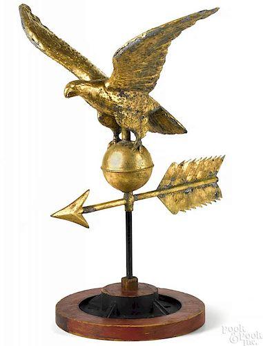Copper eagle weathervane late 19th c.