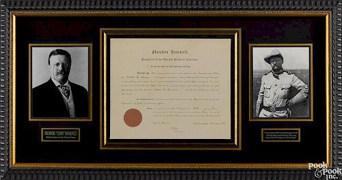 Theodore Roosevelt signed appointment