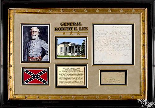 General Robert E. Lee handwritten & signed letter