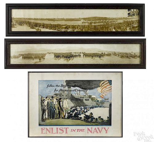 Two early military panoramic photographs