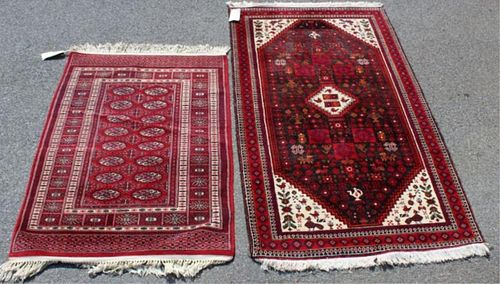 2 Handmade Area Carpets.