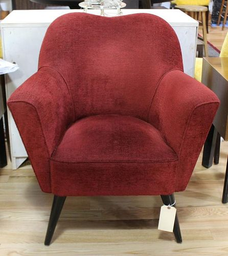 MIDCENTURY. Heart Back Upholstered Club Chair.