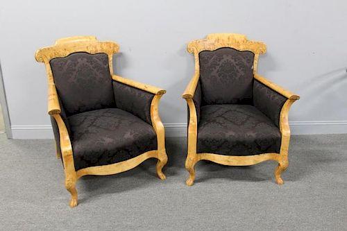 Pair Of Biedermeier Arm Chairs .