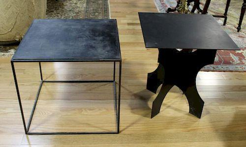 MIDCERNTURY. Lot of 2 Metal End Tables.