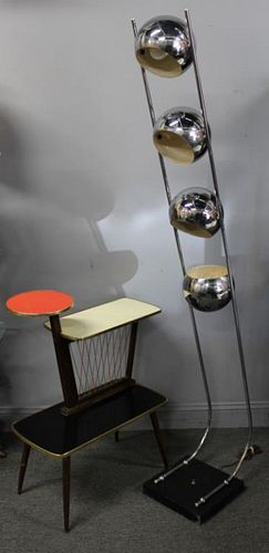 MIDCENTURY. Chrome 4 Light Floor Lamp and