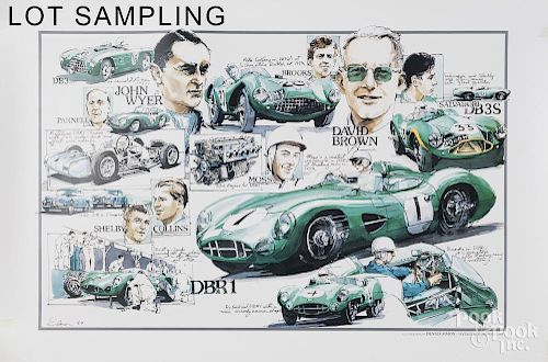 Collection of racing and automobile related poster