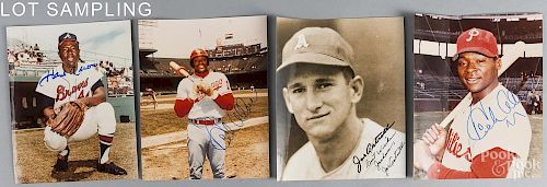 Forty-five autographed baseball players