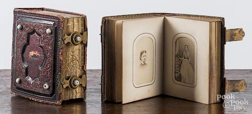 Two Victorian photo albums.