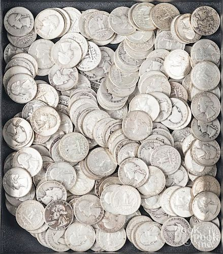 Pre-1964 US quarters and dimes, 76.7 ozt.