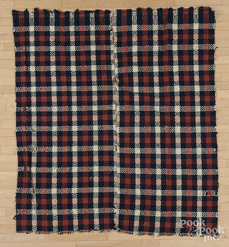 Three American coverlets, one dated 1846.