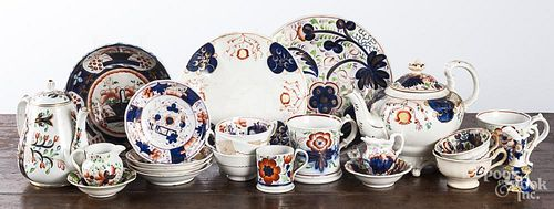 Collection of Gaudy Welsh porcelain.