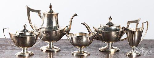 Gorham five-piece sterling silver tea service