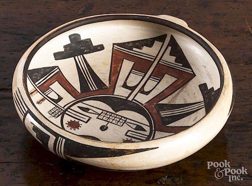 Hopi pottery bowl by Sadie Adams, 6 3/4'' dia.