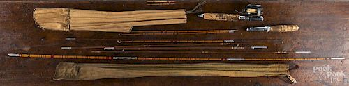 Two H. J. Frost bamboo fly rods.
