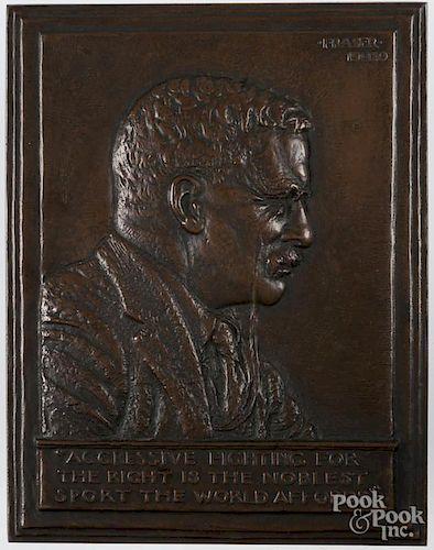 Teddy Roosevelt bronze plaque