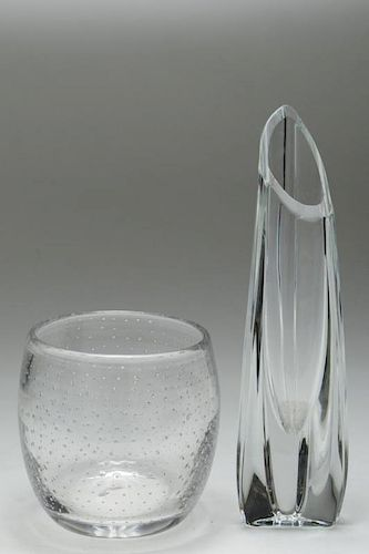 Baccarat Crystal Rose Bud Vase Bubble Glass Vase By Showplace
