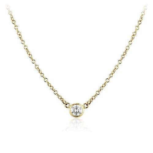 65583d3cc Tiffany & Co. Elsa Peretti Diamond Necklace by Fortuna Auction ...