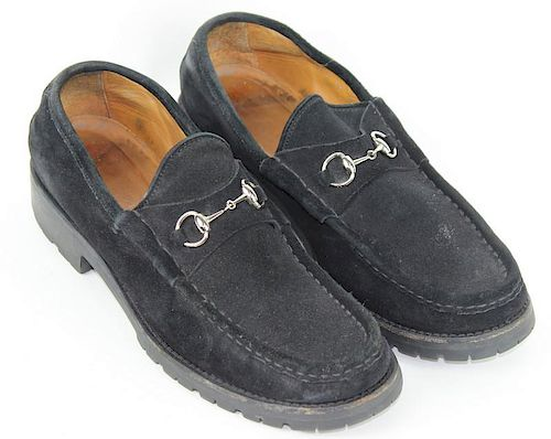 Gucci Black Suede Loafers Size 11 By Joshua Kodner 972882 Bidsquare