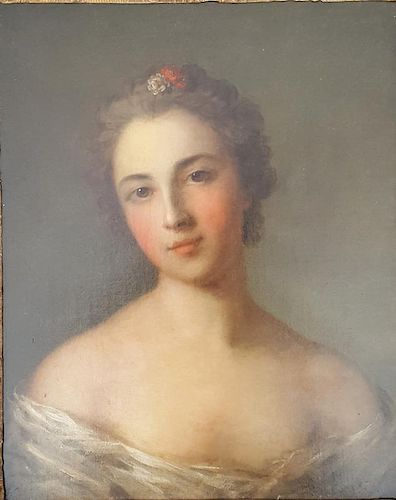 Old Master French Portrait of Lady Jean-Marc Nattier, attr.
