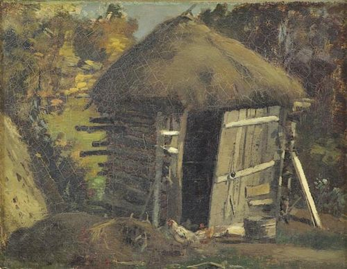 MURPHY, John F. Oil on Canvas. Chicken Coop.
