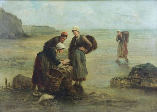 SADEE, Philip. Oil on Canvas. The Day's Catch.
