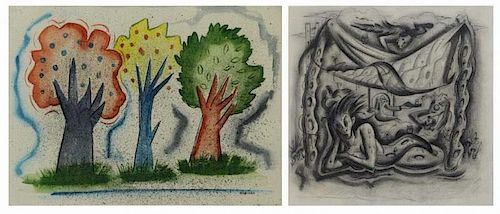 MARINKO, George. Two Works on Paper.