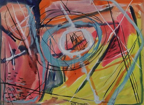 SCARLETT, Rolph. Abstract Composition (Untitled).