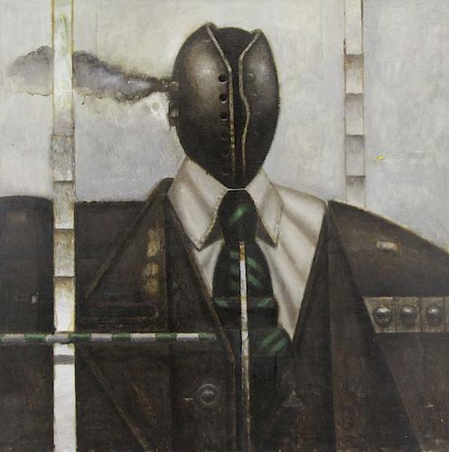 DE ANGELIS, Nick. Oil on Canvas. Machine Man.