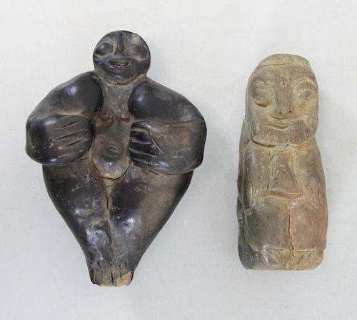 DE CREEFT, Jose. Two (2) Ceramic Sculptures.
