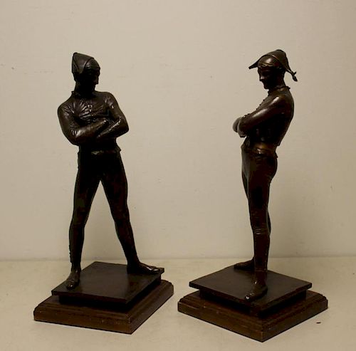 Ren Saint-Marceaux  Signed Bronze Figures Dated