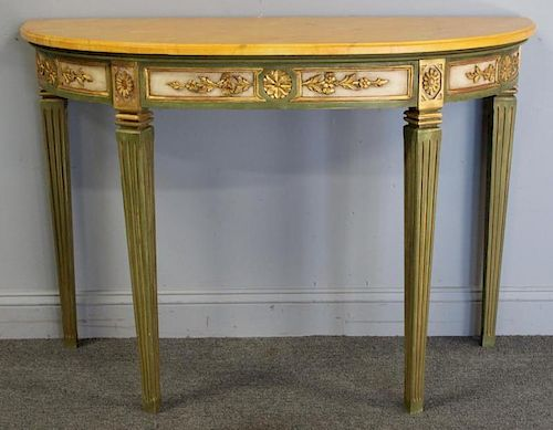Custom Quality Painted, Carved  and Gilt Decorated