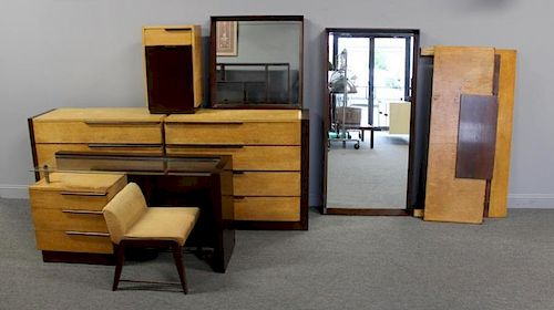 8 Piece Gilbert Rhode Art Deco Bedroom Set.