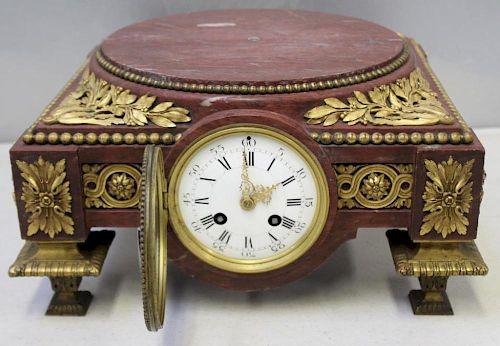 Magnificent Bronze Mounted Figural Clock Garniture