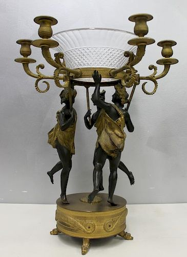 Large and Impressive Empire Patinated and Gilt