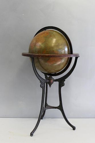 "Andrews 18"" Terrestrial Globe on Stand."