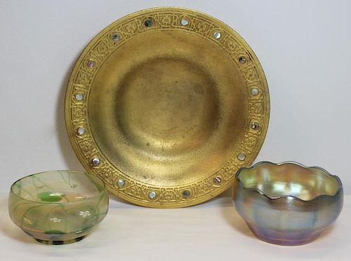 TIFFANY. Grouping of Decorative Tiffany Items.
